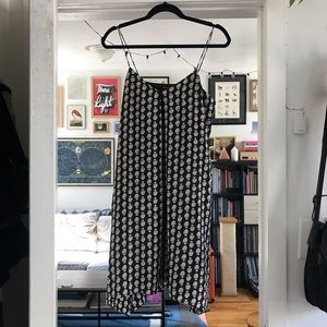 Madewell Floral Midi Slip Dress with Pockets